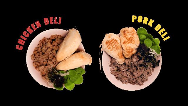 Kornfrit hundefoder. Glutenfri hundemad. MÆT Chicken & Pork Deli